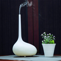 Creative Wood Grain Aroma Diffuser Air Humidifier Ultrasonic Essential Oil Diffuser LED Light Home Office Mist