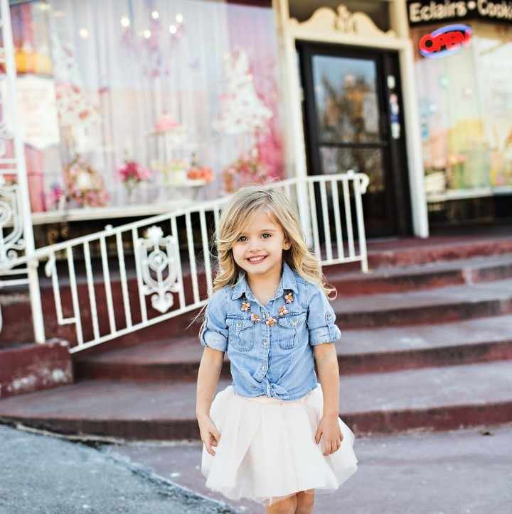 b60fba49ce ... Mother Daughter Clothes Family Look Mum Daughter Denim Jeans Blouse and Tutu  Skirt Mama Baby Clothing ...