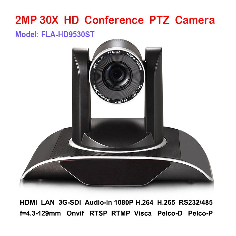 30x DVI 3G-SDI IP RJ45 Live Streaming PTZ camera audio and video Signals over a single Ethernet cable image