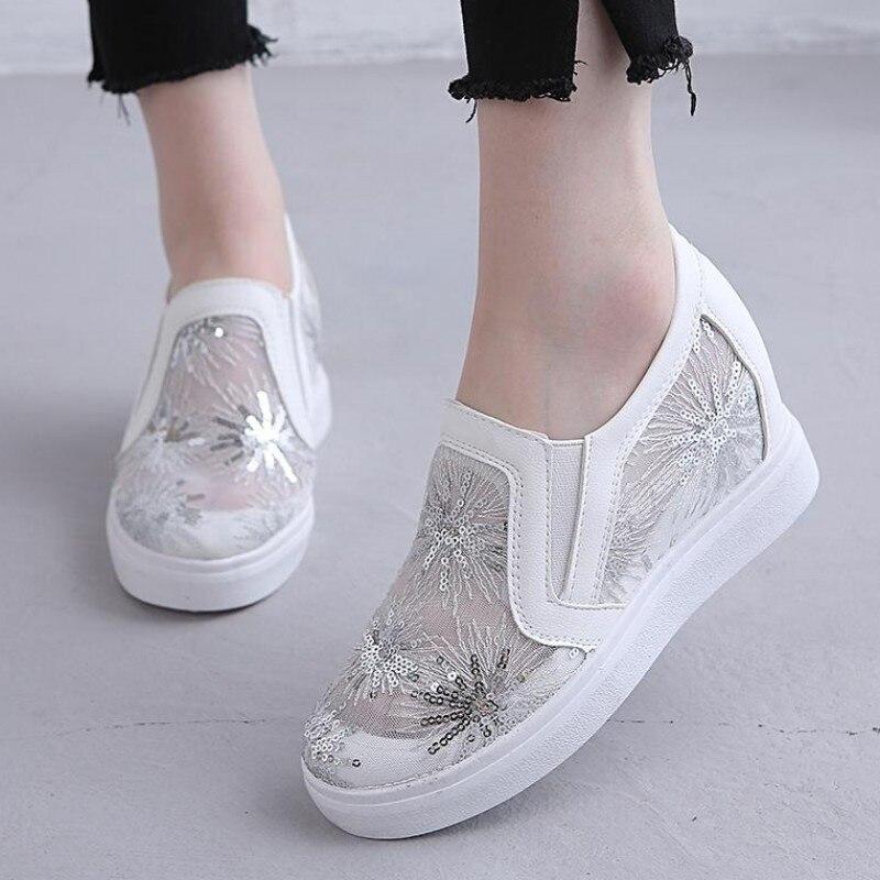 Sequin Trainers Women Platform Sneakers