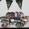 15 pessoa star wars jedi feliz aniversário fontes do partido 72 pcs conjunto do partido da criança decoração de luxo conjunto de mesa festa decoração