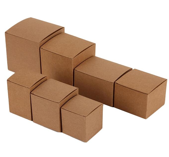 buy small cube kraft paper gift box 6 6 6cm brown kraft cardboard boxes for. Black Bedroom Furniture Sets. Home Design Ideas