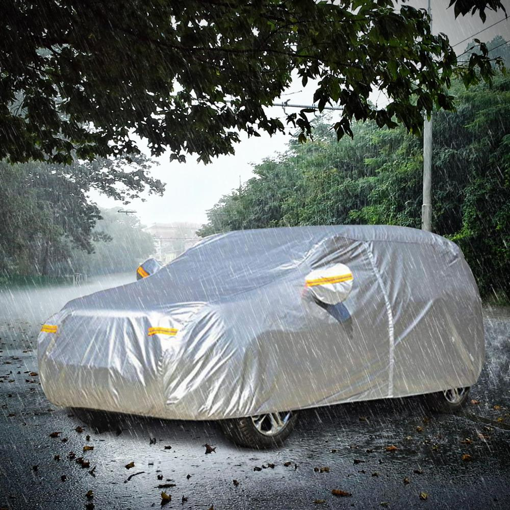 NOVSIGHT cubierta de sol de nieve para exterior cubierta plegable de luz de plata tamaño S M L Auto coche protector de la cubierta