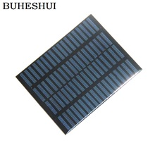 BUHESHUI Epoxy 1 5W 18V Polycrystalline Solar Panel Module Solar Cells DIY Solar System Education 140