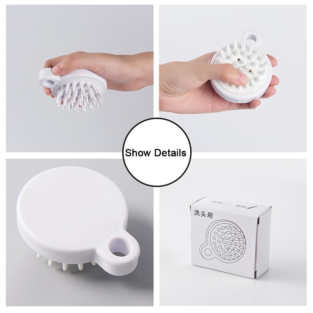 1 Pc Weiß Weiche Silikon Kopf Körper Shampoo Kopfhaut Massage Pinsel Kamm Haar Waschen Kamm Kinder Erwachsene Dusche Bad Werkzeug Seien Sie Freundlich Im Gebrauch