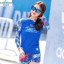 SABOLAY  Surfing suit Sunscreen Jellyfish clothing Large size Siamese Long sleeves Swimsuit