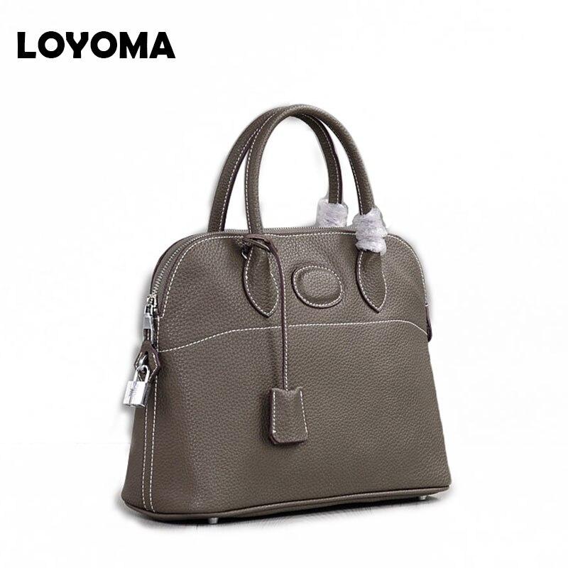 2019 Genuine Leather Bag Handbags Women Famous Design Shoulder Bag Casual Tote Female Purse Sac Femme