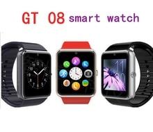 Smart Uhr Sync Notifier Unterstützung Sim-karte Bluetooth Trinken Uhr Armbanduhren Passometer Smartwatch FÜR IOS Android GT08