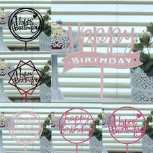 10 Pcs Acrylic Happy Birthday Cake Toppers For Baby Shower Cupcake Topper Wedding Personalized Decoration
