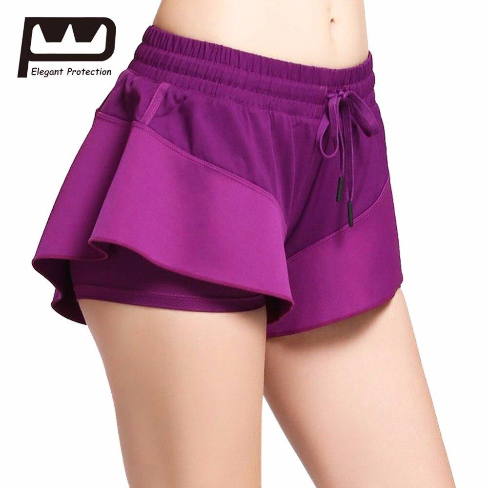 Buy Women Orange Ruffled Layered Yoga Shorts 10% OFF ...