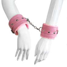 Sex Game PU Leather Handcuffs for Exotic Bdsm Bondage Toys  Sexy Fun Lingeri Porn Woman Set Hand Cuffs Hot