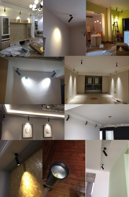 LED Picture Light LED Spotlights Tracking Led Spot Lamp Indoor Surface  Mounted Wall Spotlight Ceiling Spot Lighting Fixtures
