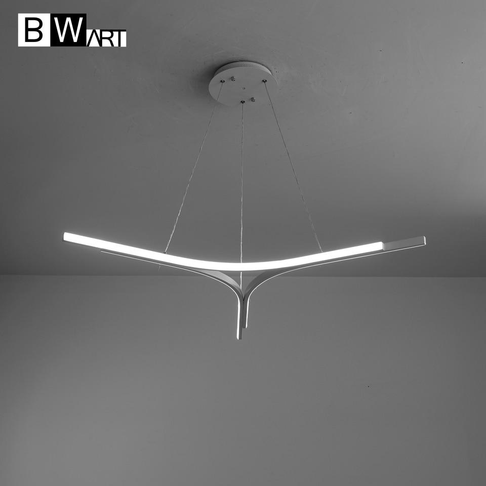 BWART Modern LED chandeliers Luxury Aluminum Pendant chandelier Lighting lamp for Living Room Bathroom Bedroom office