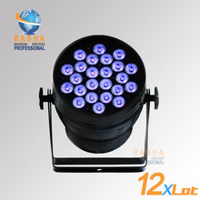 12X LOT Hex Lion Rasha 24*18W 6in1 RGBAW UV Alumnium LED Par Light UV LED Par Can Stage LED Projector  For Stage Party