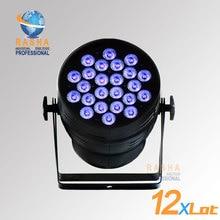 12X LOT Hex Lion Rasha 24*18W 6in1 RGBAW UV Alumnium LED Par Light UV LED Par Can Stage LED Projector  For Stage Party