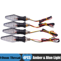 4x Universal Motorcycle LED Turn Signal Indicator Blinker Amber Light for Suzuki Bandit 600 Honda CBR 600 f4i Kawasaki Ninja 300