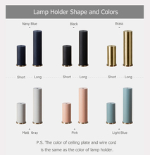 Colored Nordic simple hanging lamp restaurant, bedroom, bedside, bar lights