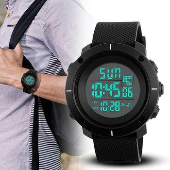 Мужские многофункциональные часы SKMEI, спортивные водонепроницаемые цифровые часы с секундомером 5 бар, будильником, 2019