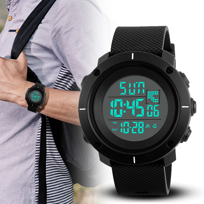 <font><b>SKMEI</b></font> Outdoor Sport Watch Men Multifunction Chronograph 5Bar Waterproof Alarm Clock Digital Wristwatches Reloj Hombre 2019 New image