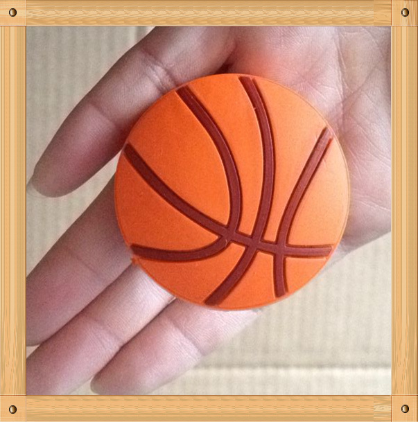 Cute Basketball soft furniture handle pull single hole knob for cabinets drawers doors chrome plated modern handle c c 160mm l 184mm h 23mm drawers cabinets