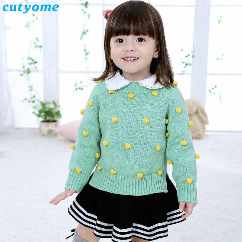 Jersey de bebé suéter para niños niñas niños de manga larga Pom Cardigan ropa de abrigo para niños suéteres de Navidad ropa de abrigo