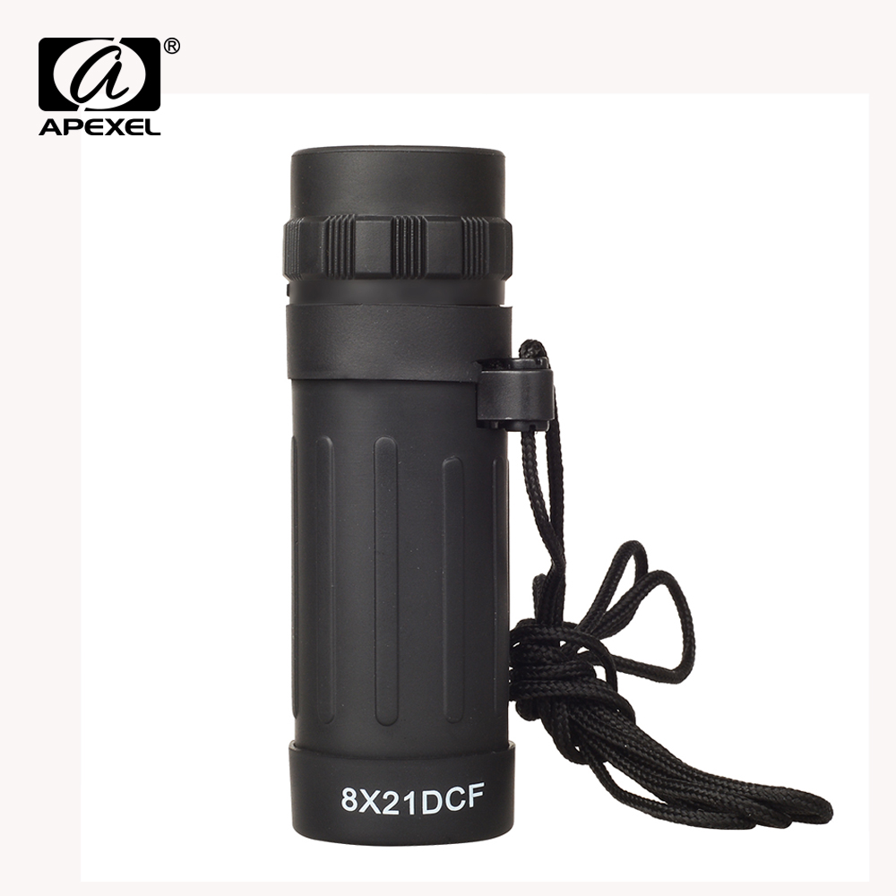 Strong-Willed Apexel 8x21 Telescope Monocular Handy Scope Telephoto For World Cup Camping Hunting Travelling Hiking Compact Bags Night Vision