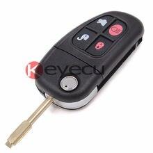 Дистанционное Ключевые Shell 4 Кнопка Adjustablae Частота 433 МГЦ/315 МГц 4D60 Чип для Jaguar X type S XJ