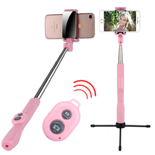 Wireless Bluetooth Selfie Stick With Mirror Stainless Steel Foldable Handheld Monopod Shutter Remote Extendable Mini Tripod