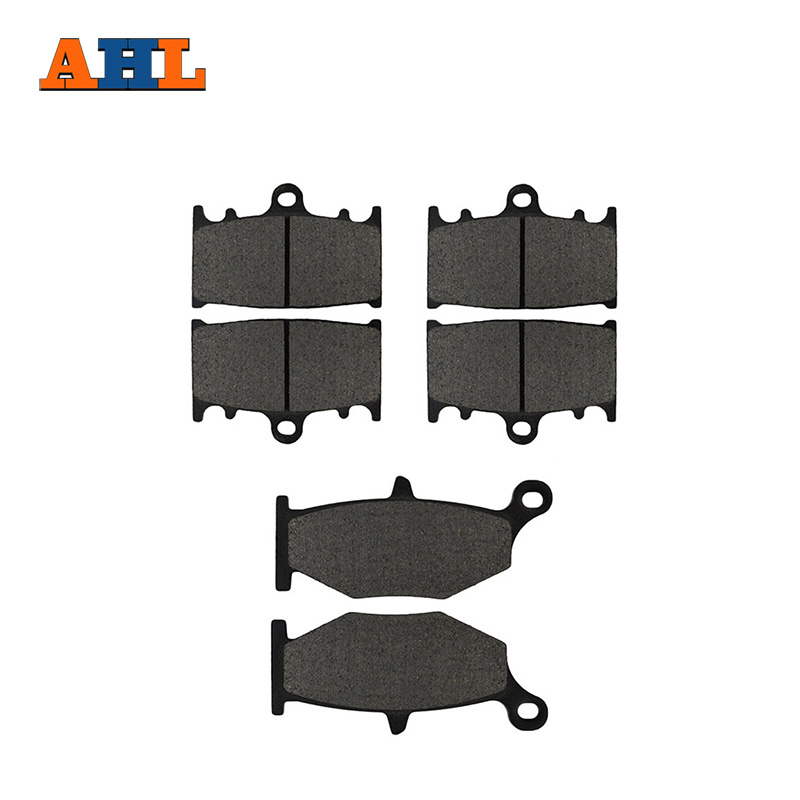 AHL Motorcycle Front and Rear Brake Pads For SUZUKI GSR400 K6 2006 / GSR600 K6/K7/K8 2006-2010 Black Brake Disc Pad motorcycle front and rear brake pads for suzuki gsx 600 gscx600 f katana 1998 2006 black brake disc pad