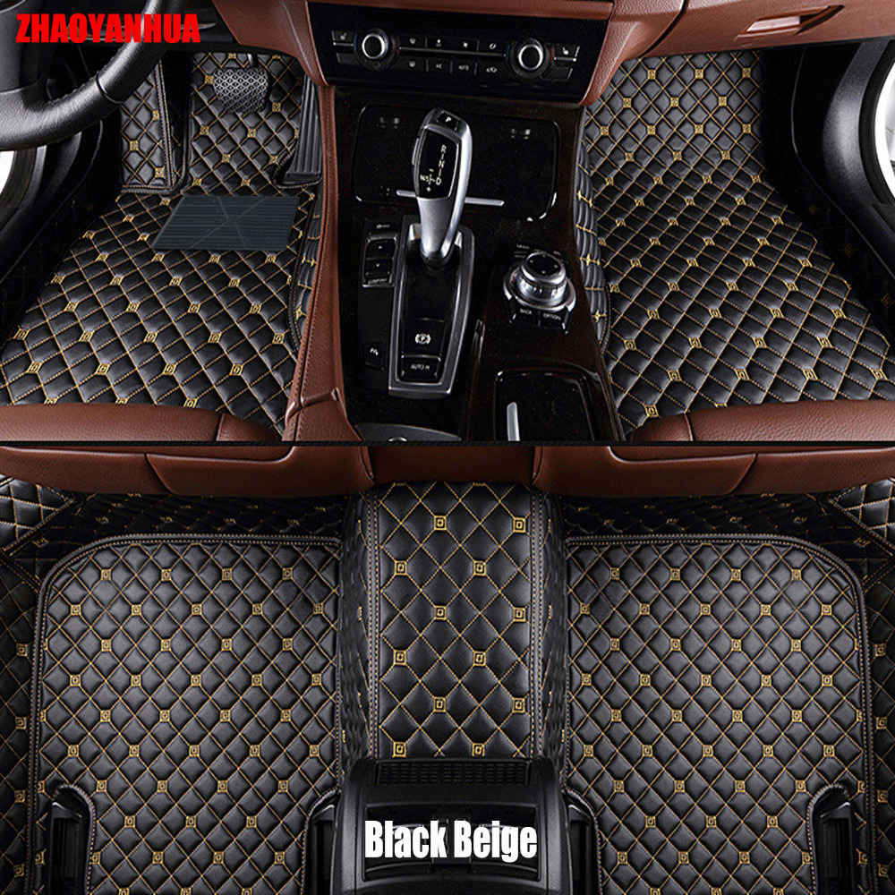 Zhaoyanhua car floor mats for bmw 3 4 5 6 7 series gt m3 x1 x3 x4 x5 x6 5d car styling all weather carpet floor liner
