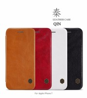 10pcs Lot Wholesale NILLKIN Qin Series Wallet Flip Leather Case For Apple Iphone 7 Genuine Flip