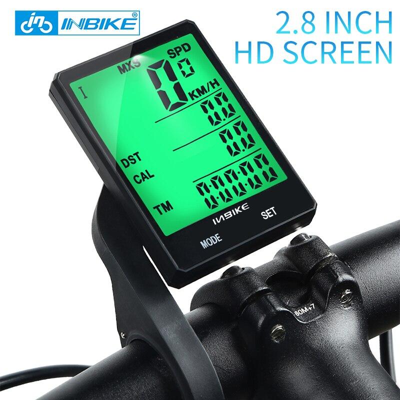 INBIKE Wireless Bike Computer Speedometer Odometer Rainproof Cycling Bicycle Computer Bike Measurable temperature Stopwatch CX-9