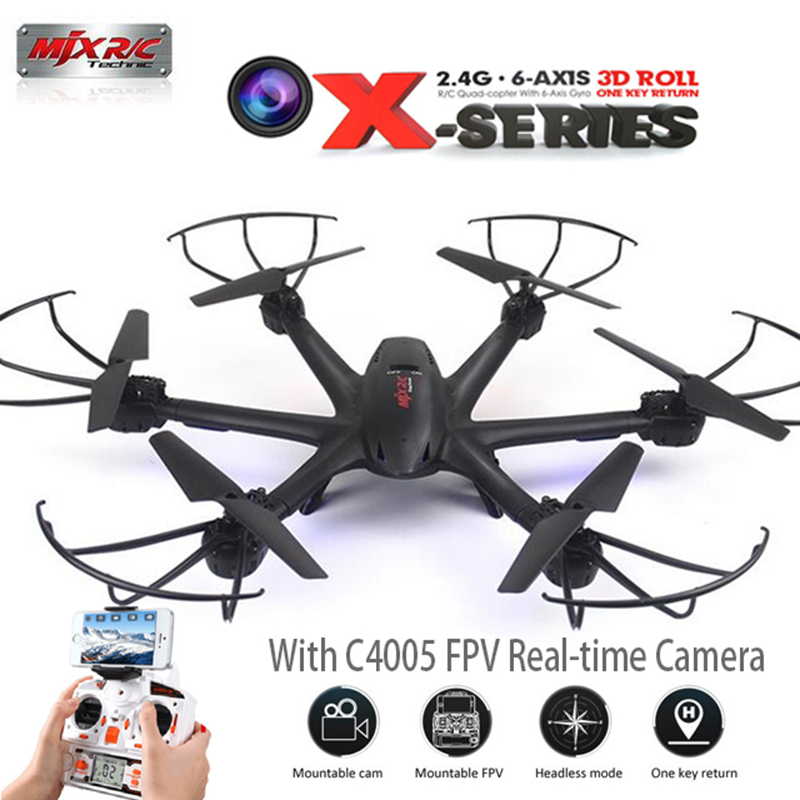 MJX X600 2.4GHz 6 Axis Gyro RC Drones Quadcopter With 3D Roll Stumbling Helicopter Remote Control Toys Add C4015 FPV Camera