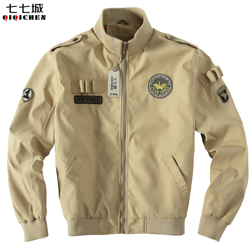 Army Green Military Europe Style Jacket Men Air Force One Style Army Tactical Baseball Jacket Bomber Windproof Coats 3 Colors