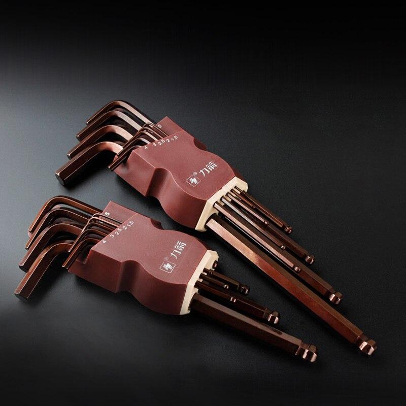"""LIJIAN 9PCS S2 """"Alen"""" raktas Metrinis / britiško tipo - Rankiniai įrankiai - Nuotrauka 2"""