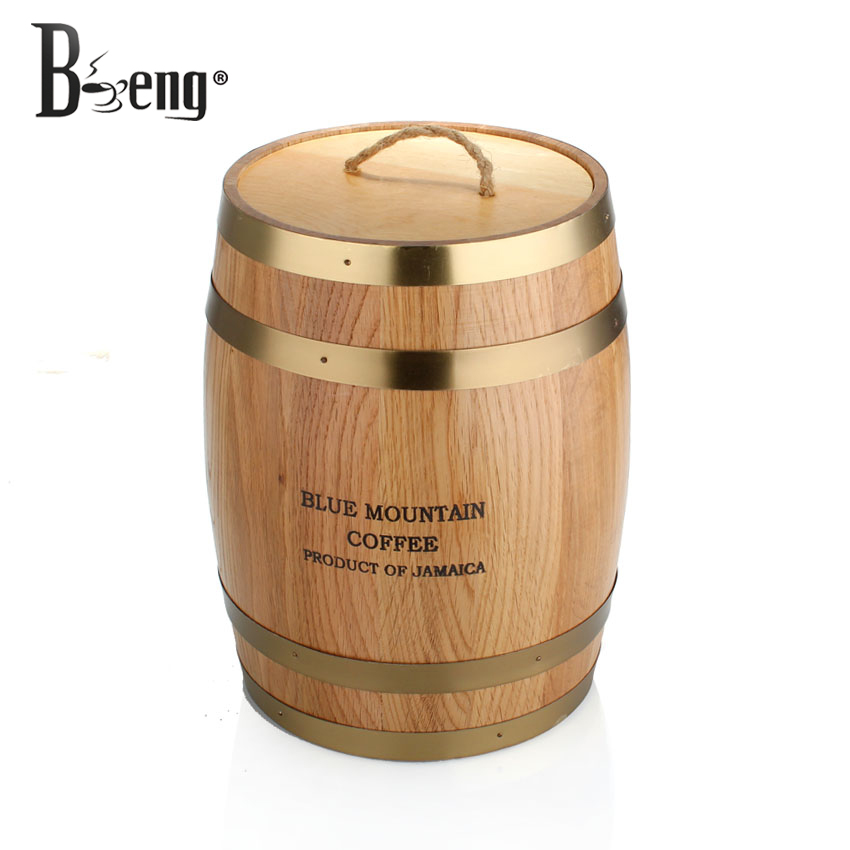 Beng Oafishness Coffee Bean Bucket Oak Material Of Beans Storage Jar Decoration On Aliexpress Alibaba Group