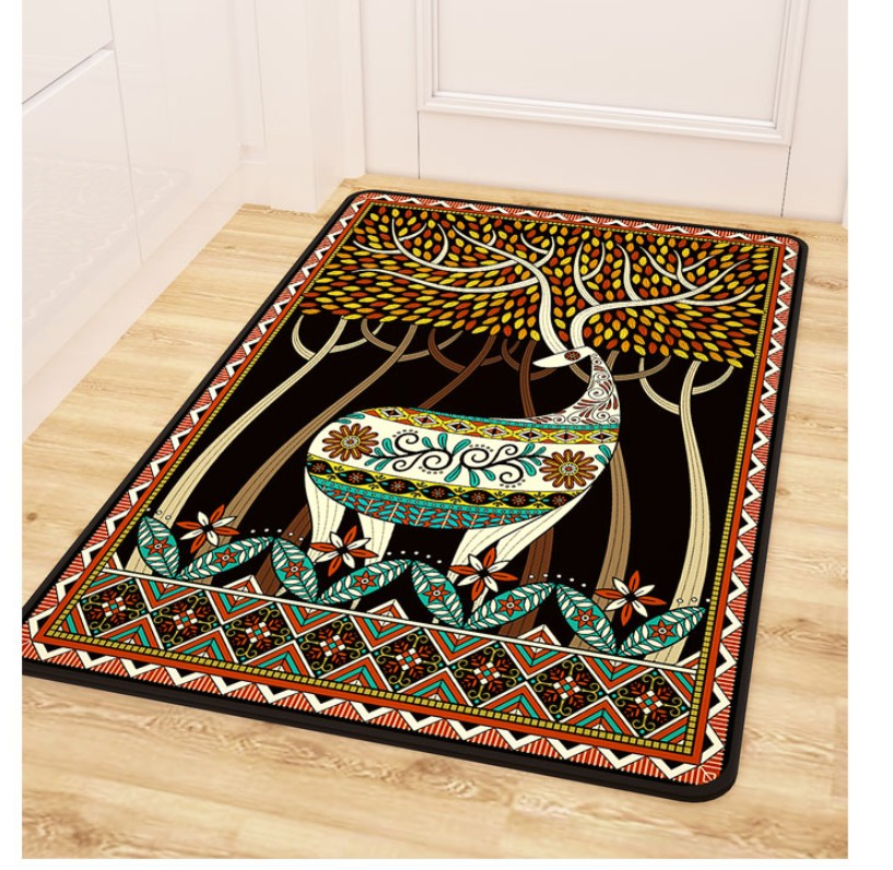 Deer Rural Retro Rugs Ethnic Style For