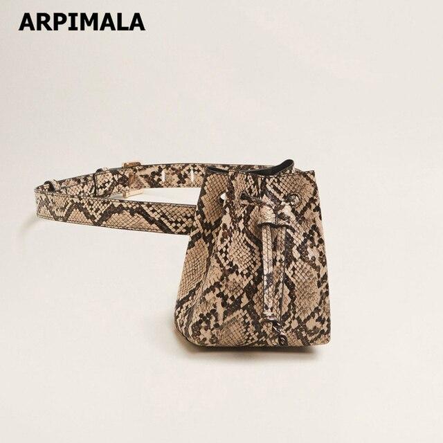 ARPIMALA estampado de cocodrilo bolso de la cintura de moda de piel de serpiente Fanny Pack Animal imprimir bolsa de marca de diseñador para mujeres bolsa bolso