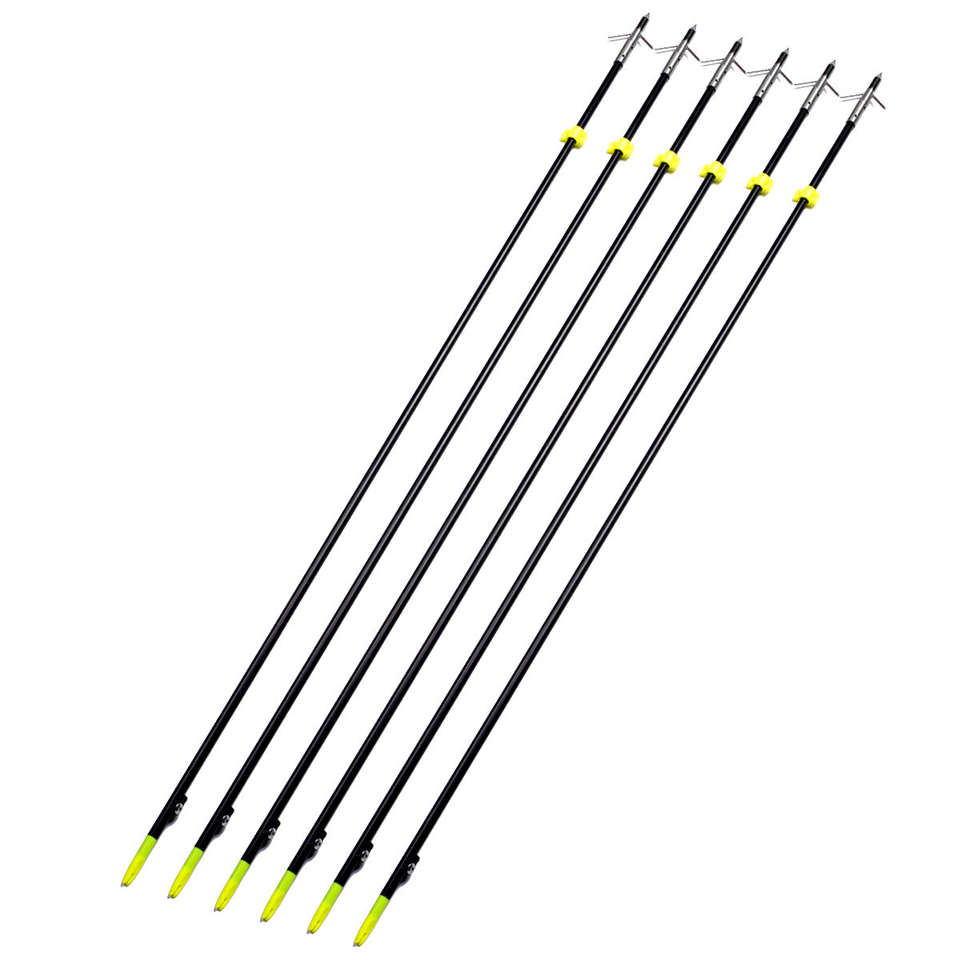 "Image 3 - 3/6/12 pcs Professional 35"" Long Bow Fishing Shooting Arrows 8mm Fiberglass Shaft Arrows for Compound/Recurve Bow B-in Bow & Arrow from Sports & Entertainment"