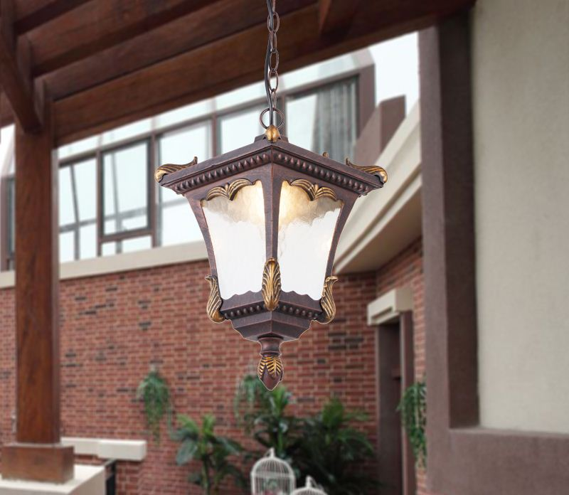Chinese retro outdoor light waterproof balcony aisle lights courtyard outdoor waterproof LED chandelier|Outdoor Landscape Lighting| |  - title=