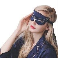 Секс лиса высококлассные шелк сна маска для глаз Портативный Путешествия Отдых помощи Мягкая обложка глаз патч горячая Распродажа тени для...