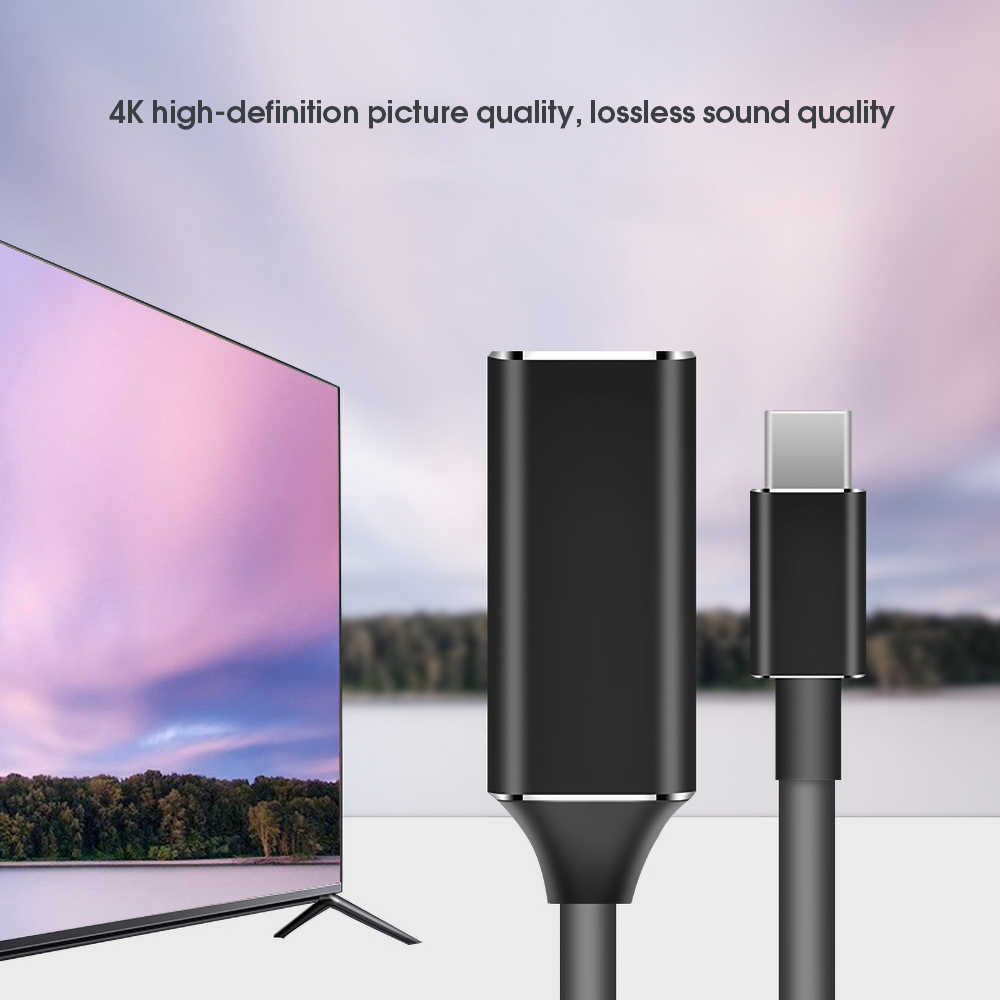 KEBIDU usb di tipo c a hdmi cavo adattatore 4k 30hz USB 3.1 a HDMI Adattatore Maschio a Femmina convertitore per il PC Del Computer TV di Visualizzazione Ph