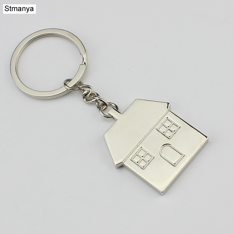Hot Personality Cartoon House Key Chain New Fashion Women  Bag Charm Keychains Men Metal Car Key Ring Best Couple Gift Jewelry