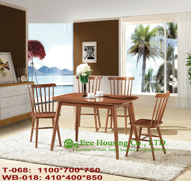 T 068wb 018 Solid Wood Table and Chair Solid Wood Home Furniture