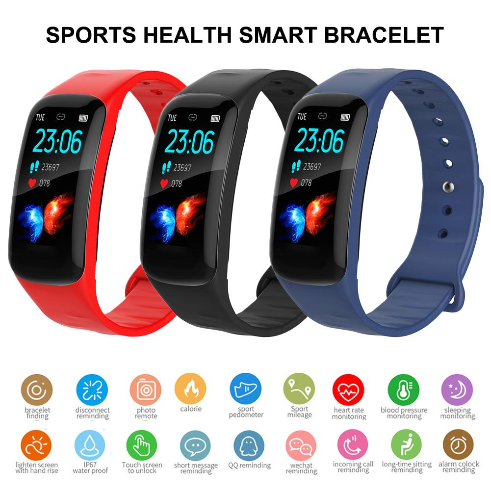 New Smart Bracelet Heart Rate Monitor Blood Step Counter Waterproof Fitness Tracker High Quality Smart Watch For Android IOS