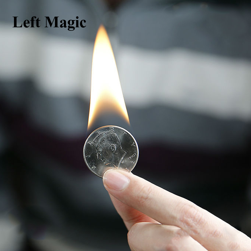 PYRIS By Nicolas Lepage Magic Tricks Fire Coin In The Hand Pyris Volcanic Accessories  Close Up  Stage Magic Props B1020