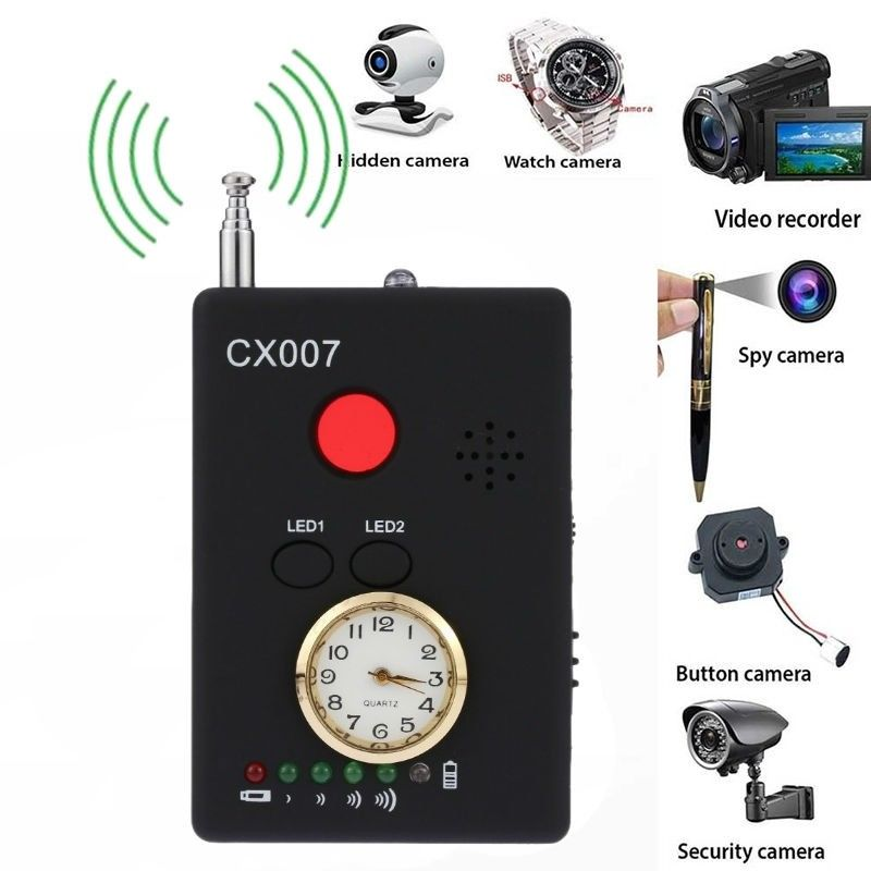 CX007 Full Range Anti-Spy Bug Wireless Camera Cell Phone GPS RF Signal Detector Finder Anti Candid Camera Detector