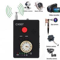 CX007 مجموعة كاملة مضادة للتجسس علة كاميرا لاسلكية الهاتف الخليوي لتحديد المواقع RF كاشف إشارة مكتشف مكافحة كاشف كاميرا صريح|جهاز كشف الكاميرات الخفية|   -