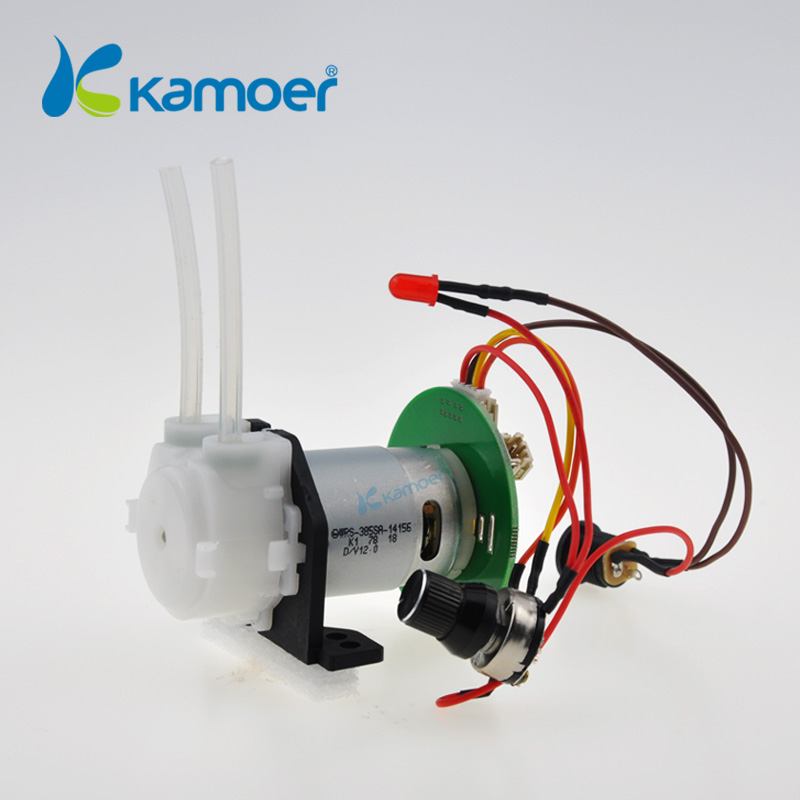 Kamoer mini water pump 12/24V DC peristaltic pump with control board ( Adjustable flow , max 90ml/min )