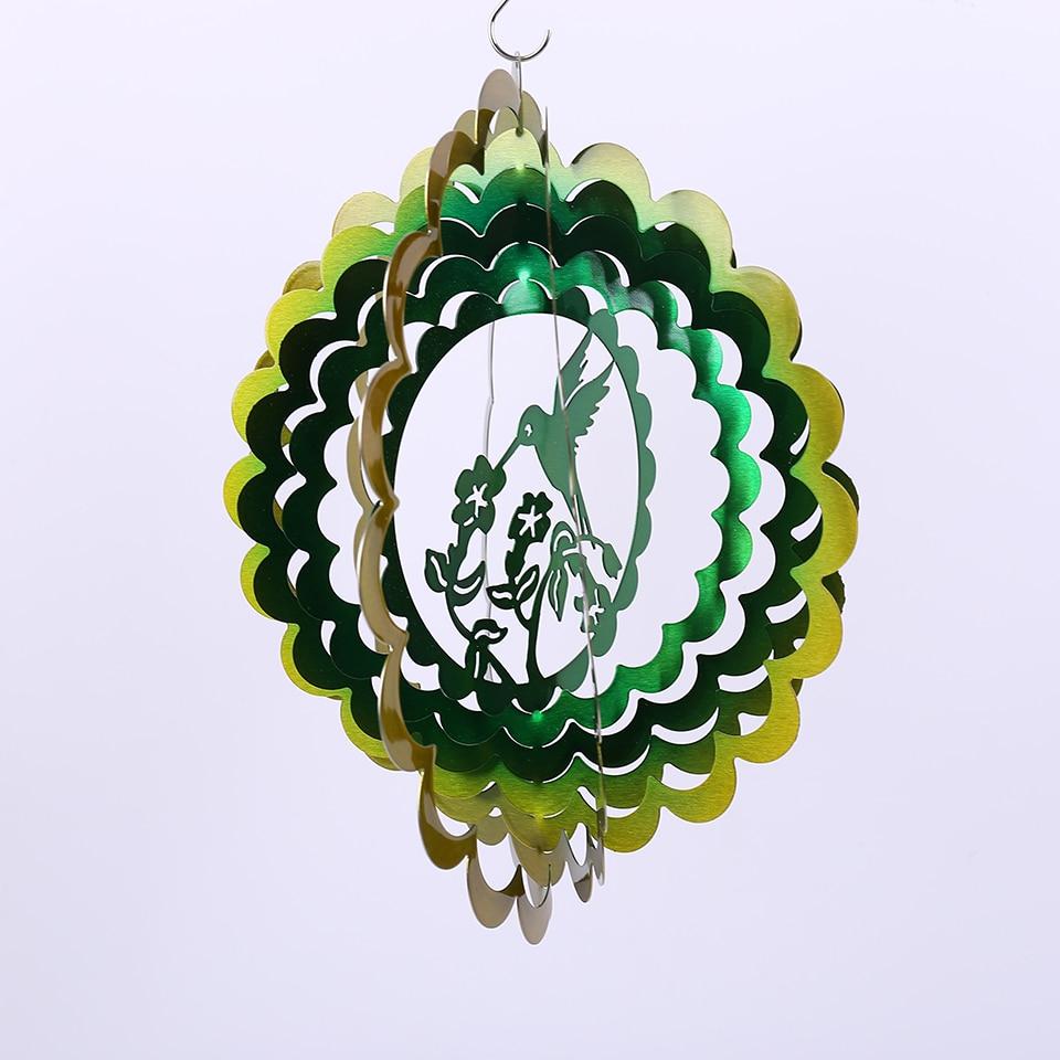 12 дюймов 3D ветер Спиннер Колибри с хорошим качеством Сделано из нержавеющей стали лист